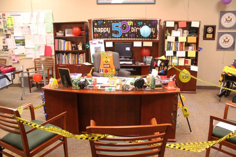 Celebrates Jensens Birthday Principal Louis Office Was Decorated For His 50th