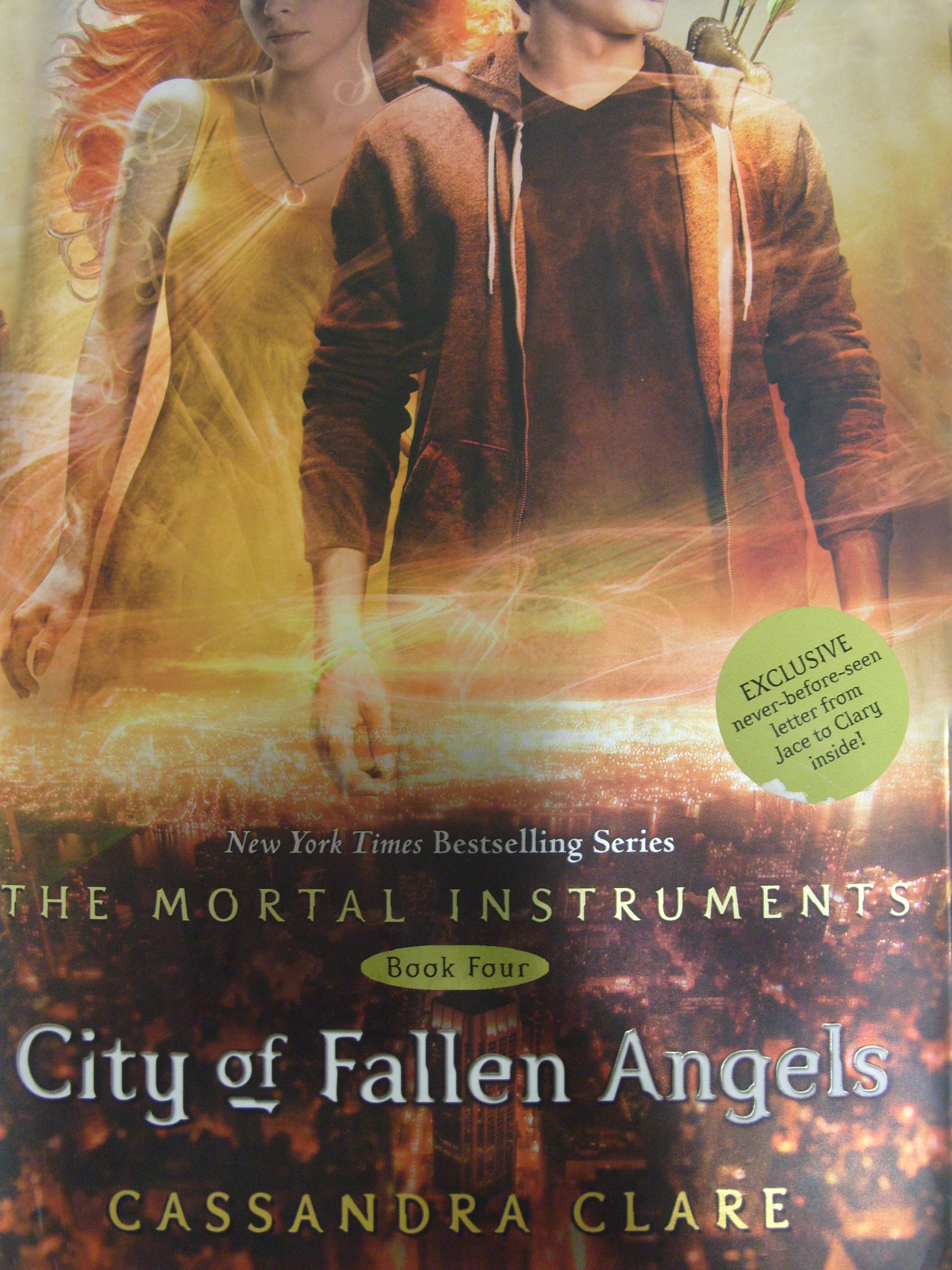 city of fallen angels book report City of fallen angels is written for ages 14 and simon's band will perform in the city if your children have read this book or someone has read it to.