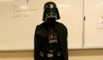 "Science teacher Tim Korte dresses as Darth Vader ""because it's fun."" Photo by Chase Palmer."