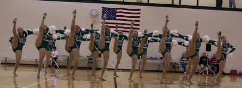 Dazzler's preview their national competition routine of Jan. 29. Photo by Jalyn Kowalski.
