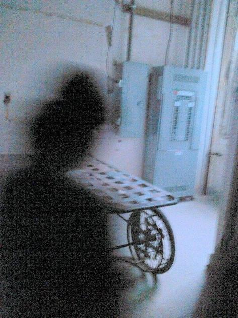 Unknown figure caught by  Paige Mckinley, a guest on the Waverly Hills tour. Photo by Paige Mckinley.
