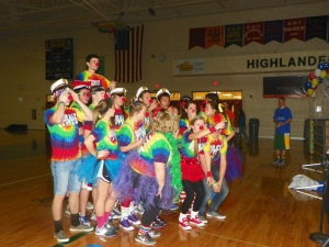 The FCDM Moral Committee gets into the spirit for the FC Dance Marathon. Photo by Jonathan Blaylock.