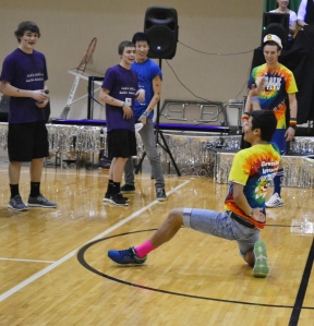 Senior Allen Truong shows off his signature dance moves. Photo by Meghan Poff.