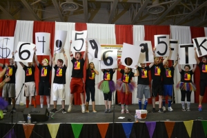 The FCDM executive committee reveals the total sum of money raised this year, $64,596.95.