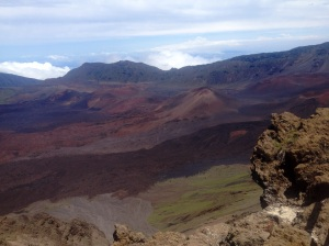 At 10,023 ft (3,055 m) above sea level,  the Haleakala National Park covers the summit area of the larger of the two volcanic mountains on Maui. It takes a total of 2 hours to drive to the top.