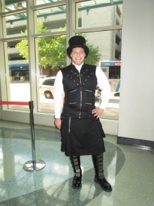 Senior Alexander Chait steps into prom with a kilt fashion.