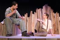 Junior Will Huston as Ferris and senior Ryan Bickett as C.C. talk about mechanics.