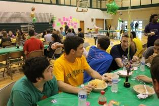 Seniors Aaron Brockman, Aiden Cora, and Evan Spears.