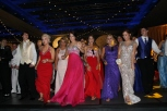 Students do a line dance on the dance floor at prom. Photo by Braden Schroeder.