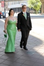Juniors Carigan Wendelgast and Silas Schaefer hold hands as they walk into prom. Photo by Alaina King.