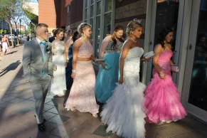 Another prom group arrives to the Convention Center. Photo by Alaina King.