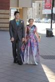 Juniors Joel Jackson and Ashley Denny arrive to prom. Photo by Alaina King.
