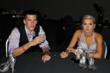 Senior Chase Blakeman and Lindsey Smallwood take a break at a table. Photo by Alaina King.