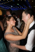 Senior Madeline Miller and junior Henry Miller dance together on the dance floor. Photo by Alaina King.