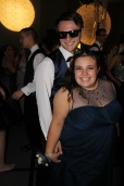 Seniors Colten Palmer and Jalyn Kowalski pose together on the dance floor. Photo by Alaina King.