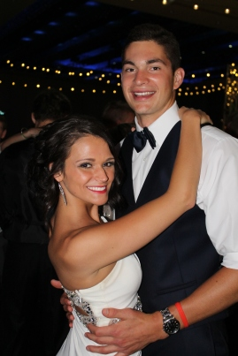 FC graduate Hayley Rogers and senior Clayton Crum pose while slow dancing with each other. Photo by Alaina King.