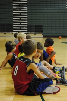 Campers wait for instruction.
