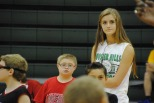 Junior Lauren Titus stands with little brother Jacob,