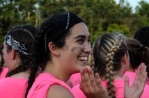 Callie Oaks Oakes claps in senior pride. Photo by Robert Wormley