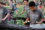 Junior David Kuo plays percussion.