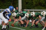 The FC offensive line faces off against the Charlestown defense.
