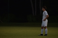 Senior Alex Gillespie waits to put the ball into play.
