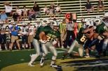 Junior Colt May runs the ball.