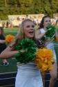 Senior Alison Akermon cheers on the sidelines.