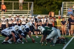 The defensive lines gets ready to stop the Providence offense.
