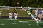 Senior Keaton Stiller jumps for the pass.