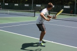 Junior Chris Boone prepares to hit the ball.