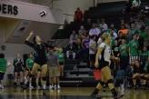 Freshman Kamryn Plaiss serves the ball.