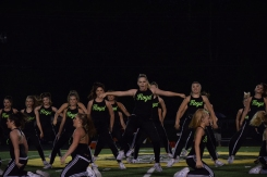 The Dazzlers perform during halftime at the football game against Seymour.