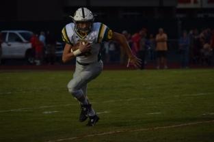 Sophomore Matt Weimer runs the ball up field.