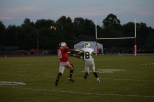 Junior Antonio Villegas catches a pass from sophomore Matt Weimer.