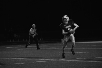 Sophomore Matthew Weimer moves the ball up field before passing it.