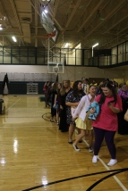 Students dance to the Cupid Shuffle. Photo by Delaney Smith.