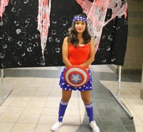 Junior Samanta Garcia as Captain America.