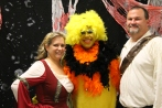 Amy Romines as Maid Marian (far left), junior Luis Romines as Big Bird, and Carl Romines as Robin Hood.