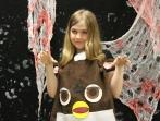 Sophomore Savannah Schroering as Furby.