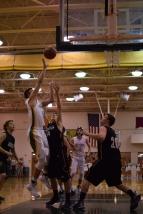 Senior Garrett Mehling shoots the ball.