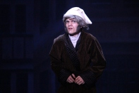 """Sophomore Will DeVary finds himself alone and lost before being greeted by the spirit of Christmas Future. """"I would have to say my favorite character was Scrooge because in all honesty he was one of the best portrayals of such a classic character,"""" said Bulleit."""