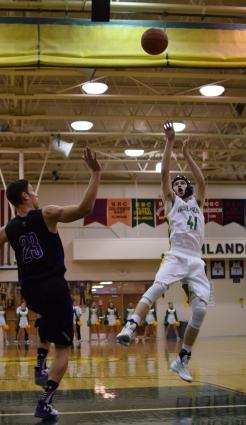 Senior Connor Sturgeon shoots the ball.
