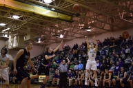 Sophomore Jake Canter shoots a three pointer.