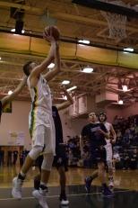 Senior Garrett Mehling takes a shot.