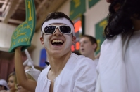 Senior Sam Yothers laughs at his fellow students.