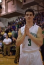 Sophomore Jake Canter does his pregame ritual after being announced in the starting lineups.