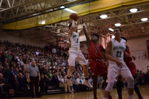 Sophomore Jake Canter takes a jump shot.