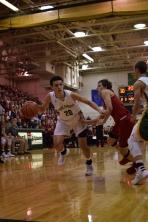 Freshman Cobie Barnes drives to the basket.
