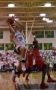 Freshman Cobie Barnes shoots a layup.